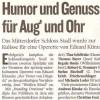 Kleine Zeitung, Der Vetter aus Dingsda, Regie